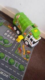 Toy Bin Lorry-green