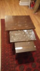 Nest of 3 tables side tables coffee table serving tables going cheap grab a bargain