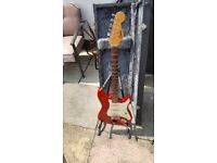 electric guitar and fender amp