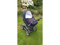 Bebecar Style travel system pram and pushchair - carrycot designed to be used as car seat and bed
