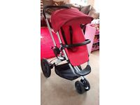Quinny Buzz Travel System including Carry Cot, Rain cover, Adapters and more