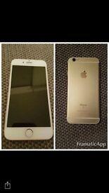 iPhone 6s in gold 64bg
