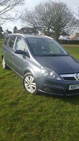 Vauxhall Zafira 1.8 Design, low mileage, part leather seats, alloys