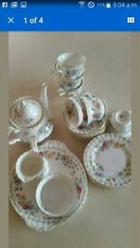 Royal Albert Bone Chine Tea Set with Cake Plate in Jubilee Rose Design