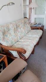 3 seater sofa and 2 armchairs