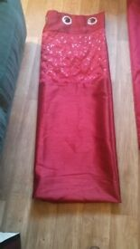 Red sequins pair curtains 64w x 90l