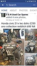 Honda civic 2l ivtech engine for sale