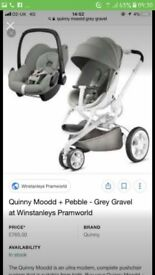 Quinny moodd pushchair and car seat