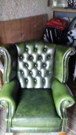 Chesterfield Green chair