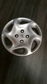 "Peugeot 13"" wheel trims x4"