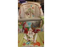 Baby bouncer: Fisher Price Woodsy Friends Baby Bouncer - calming vibrations