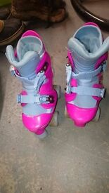 Roller Boots size 13J to 2 adjustable