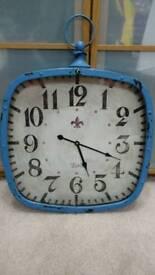 Large blue wall clock