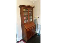 Antique writing desk and book shelf