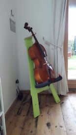 Handmade cello stand for 1/2 or 3/4 size cellos