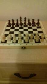 Lovely boxed 'chess/draughts/games set'