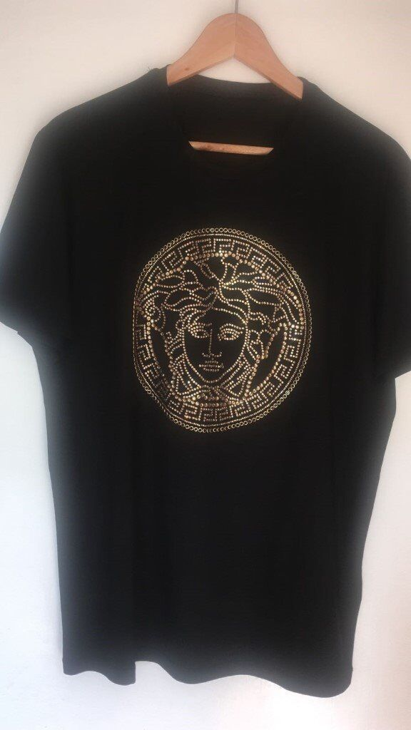 673069d0 Versace Gold Medusa T Shirts - Large (Slim Fit) (Not Gucci, Off White,  Givenchy, Fendi)
