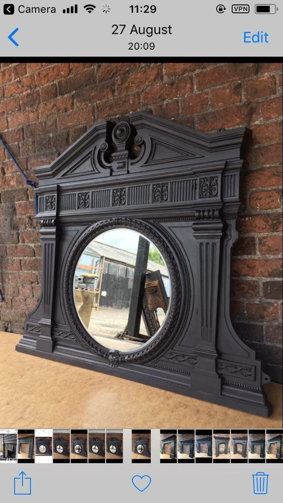 30c DEL £25 most uk stunning large cast iron mirror