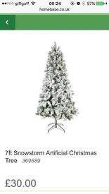 7ft snowstorm Xmas tree, brand new still in box