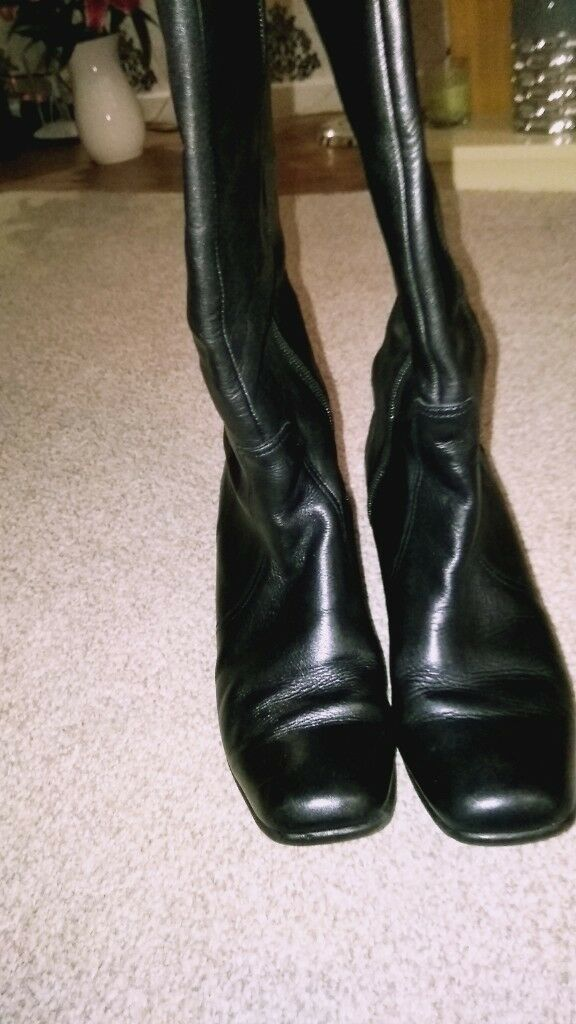89637ba175856 Next Leather knee high boots. Size 7 uk. Wide calf. | in Hull, East ...