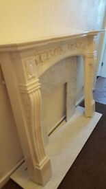 Fire suround and marble back/base