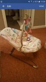 Girls baby bouncer excellent condition