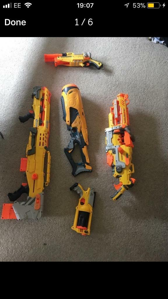 5 nerf guns all working in good condition