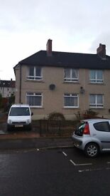 one bed unfurnished upper flat to Rent Chryston Road G69 9NA ready now - £410 + deposit