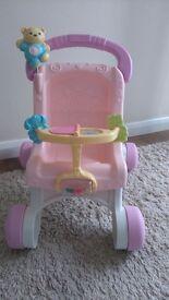 First steps baby girl walker