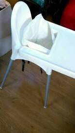 Ikea highchair with tray and inflatable insert
