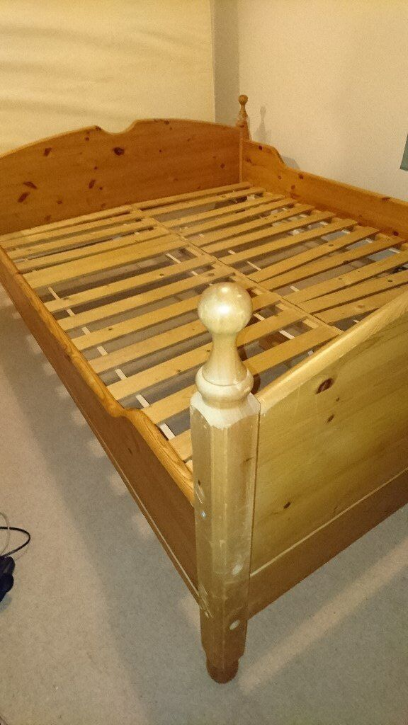 Solid Wood Double Bed Frame (King Size)