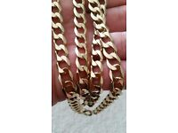 Solid gold chain 57g,26 inch