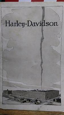 Early HARLEY 1917 STEP STARTER 3 SPEED ELECTRIC SIDEVAN SINGLE Sales BROCHURE JE