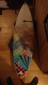 "6'1"" shortboard custom made for Mick Fanning."