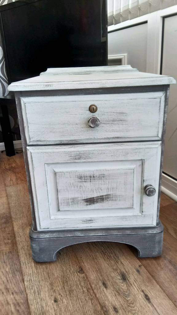 REDUCED Shabby Chic Ducal Bedside Cabinet