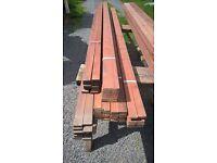 timber battens ideal for garden trellis or decorative cladding e