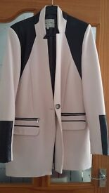 Ladies pink &faux leather river Island jacket