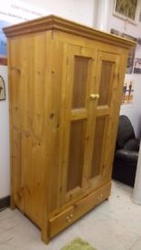 Solid handmade triple pine wardrobe SALE...£85.. Stalybridge SK15 3DN Local DELIVERY