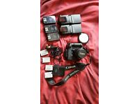 Canon eos 550d with 18-55 kit lens plus extras