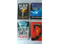 Wilbur Smith Books 4 Hardback and 4 Paper back