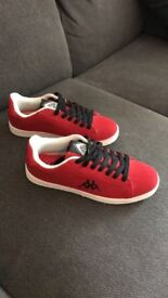 *Brand New* Kappa Canvas Style Trainers Size 5 for Women or Men in Bold Red