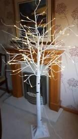 Light up white Chritmas tree