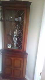 Great condition old style glass cabinate