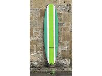 SHIPPING, Awali Surfboard 7'2 green, 50L, mal, thruster, SET, Epoxy