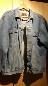 Jacket with stain