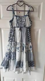 Next. Floral gypsy hem full skirt dress