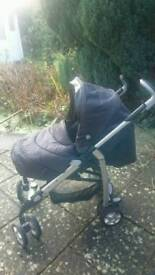 Silver cross 3d pushchair system.