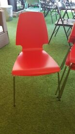 FREE - Red Wooden Dining Chairs x 5 - Excellent Condition