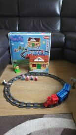 peppa pig train station construction set