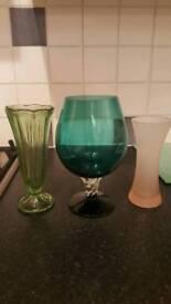Coloured glass - vase